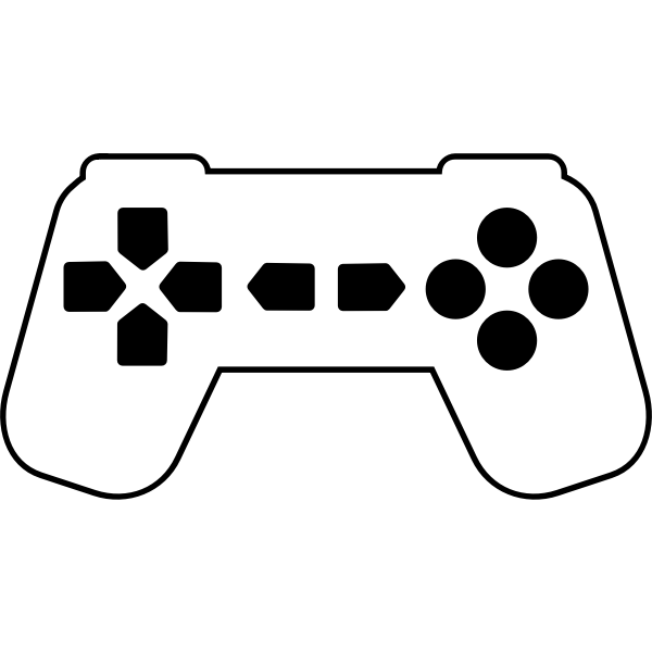Game controller silhouette