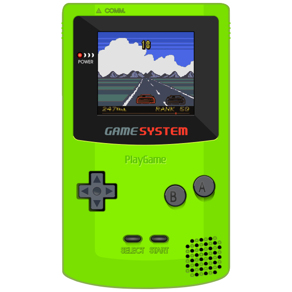 GameBoy Color Clipart by DG RA