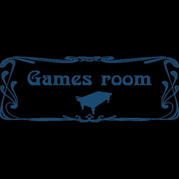''Games room'' door sign
