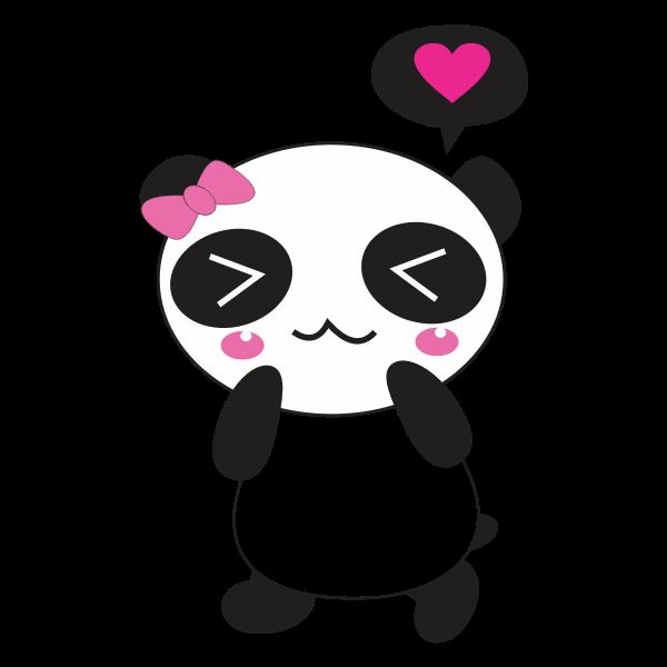 Panda toy cartoon