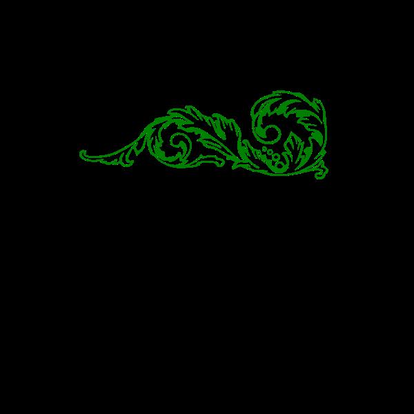 Vector clip art of green decorative corner border
