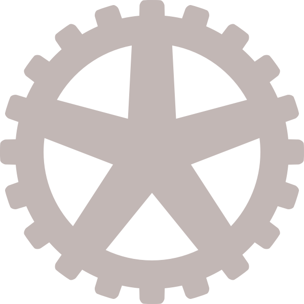 Gray gear wheel