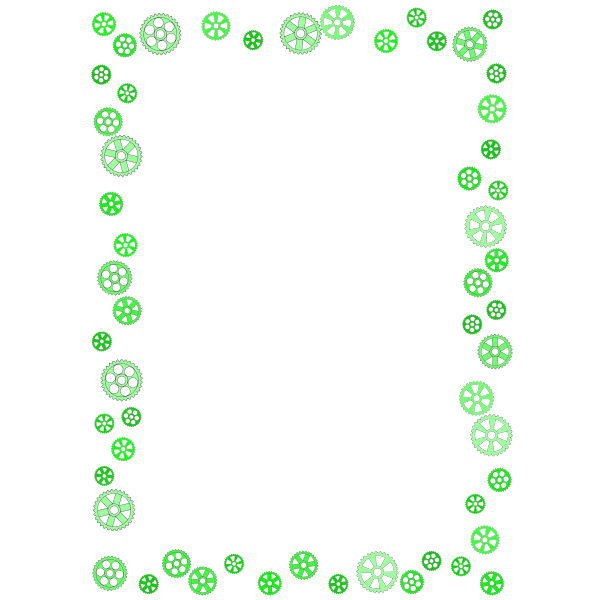 Gears Frame Green Color