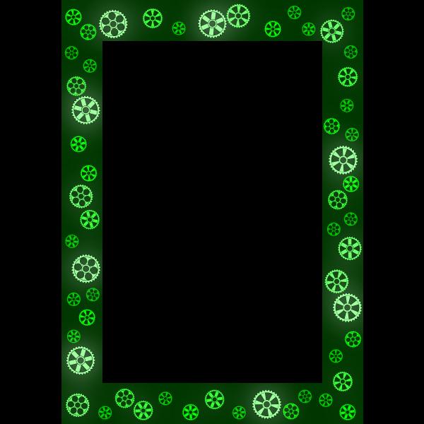 Gears Green Frame