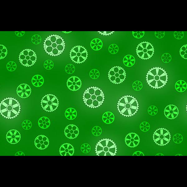 Green gears pattern