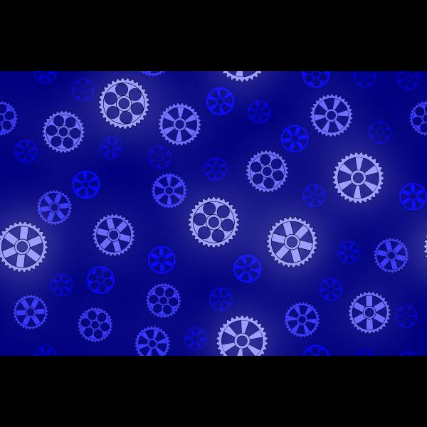 Gears pattern in blue color