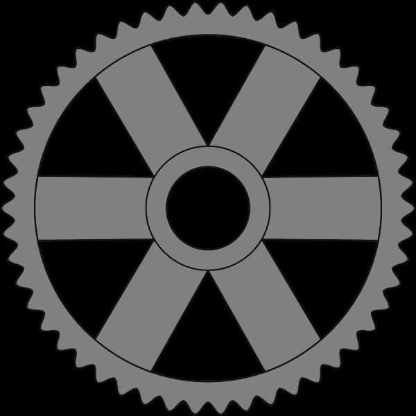 Gray cogwheel