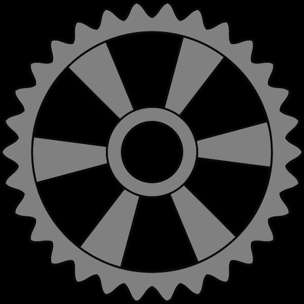 Metal cogwheel