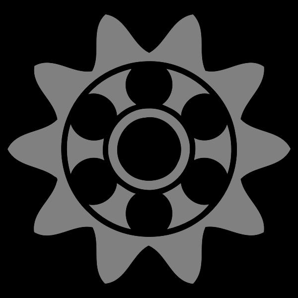 10-tooth cogwheel