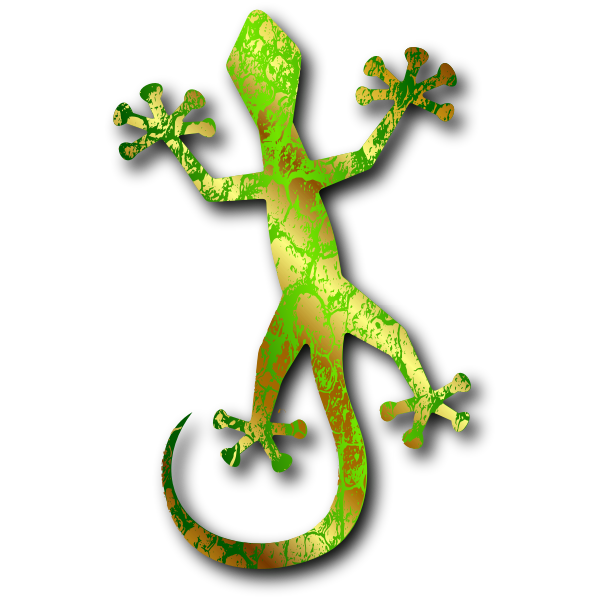 Colorful lizard vector