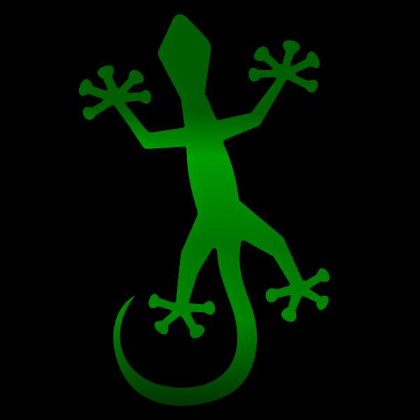 Gecko with shadow vector lip art