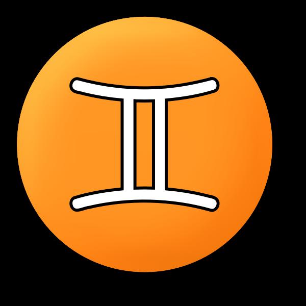 Orange Gemini symbol