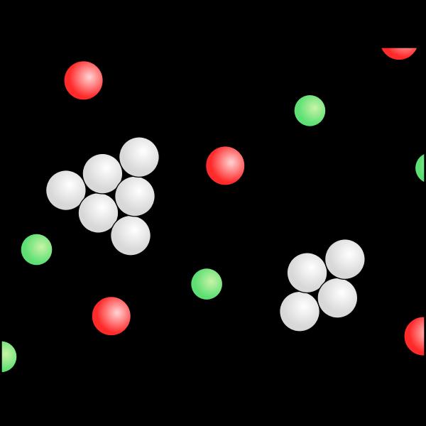 Gemisch Teilchenmodell Rauch Luft