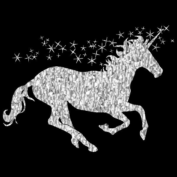 Gemstone Magical Unicorn Silhouette