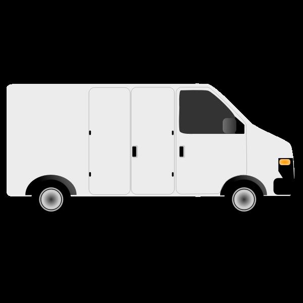 Vector illustration of generic van