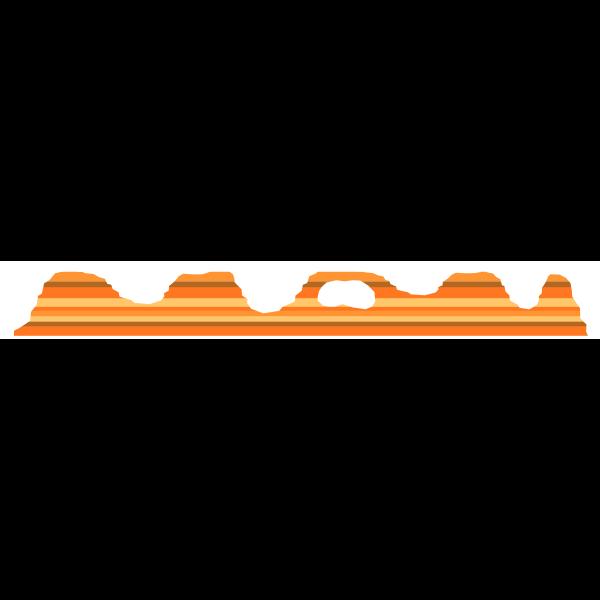 Vector graphics hill tops