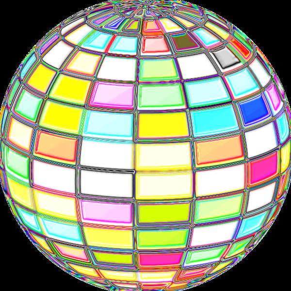 Geometric Beach Ball Psychedelic