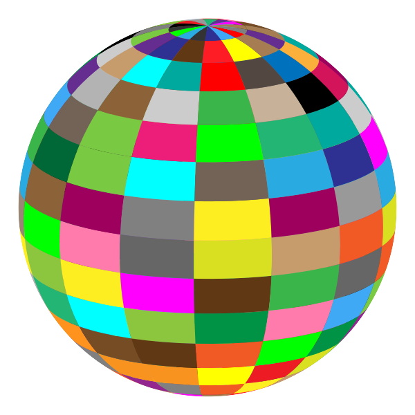 Geometric Beach Ball