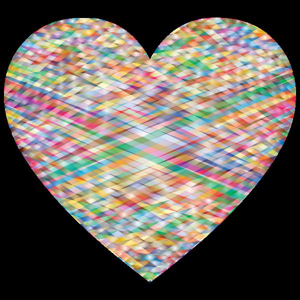 Heart shape with geometric pattern
