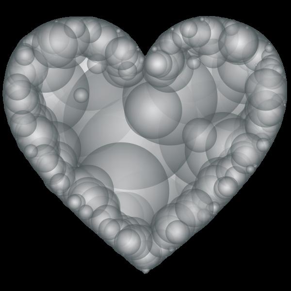 Geometric Heart Grayscale