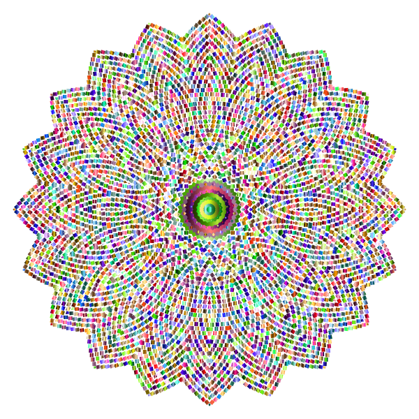 Geometric Tiled Design Chromatic No Background