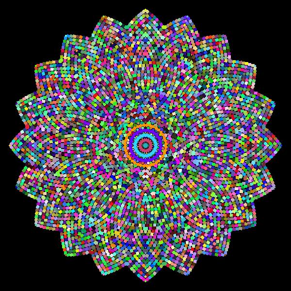 Geometric Tiled Design Prismatic