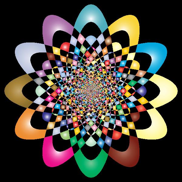 Prismatic colorful vortex vector image
