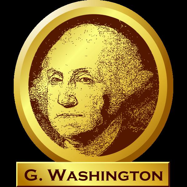 "George Washington ""memorial"" sign vector image"