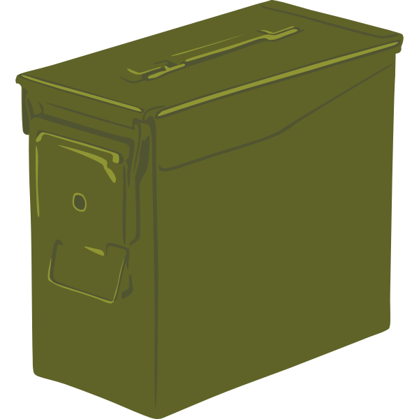 Ammo can vector graphics