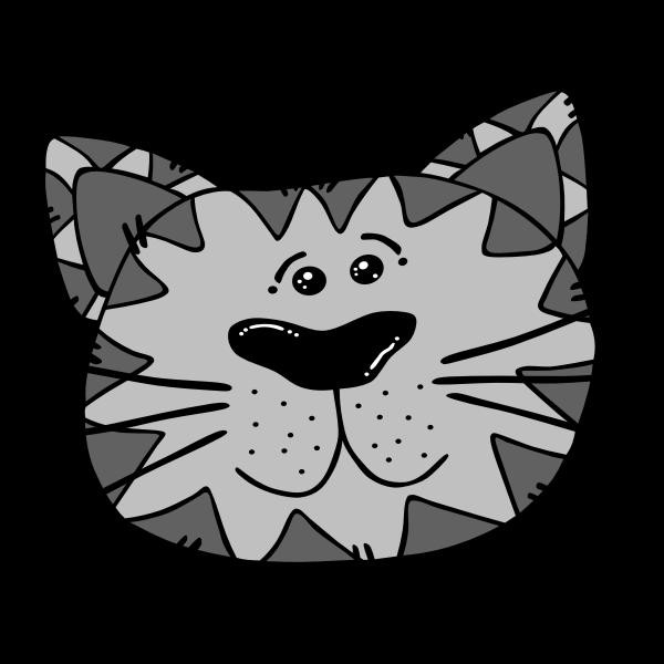 Cartoon Cat Face Free Svg