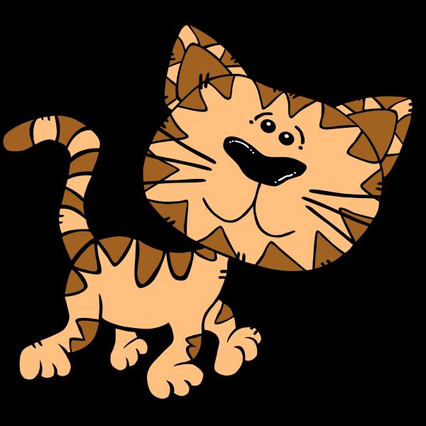 Cartoon Cat Walking