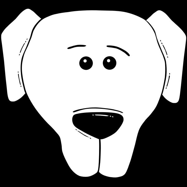 Dog Face Cartoon - World Label