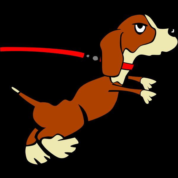 Dog on leash (Cartoon)