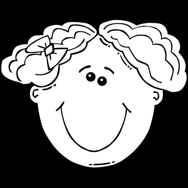 G Girl Face Cartoon 4