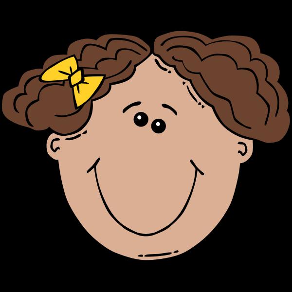 Girl Face Cartoon