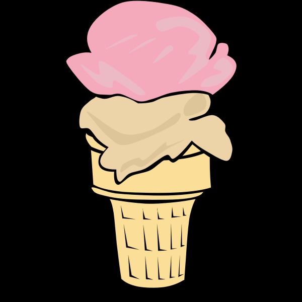 Fast Food, Desserts, Ice Cream Cone, Double