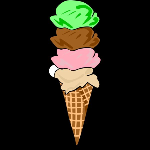 Fast Food, Desserts, Ice Cream Cones, Waffle, Quad
