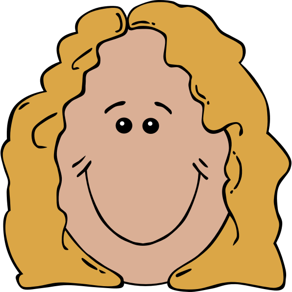 Lady Face Cartoon