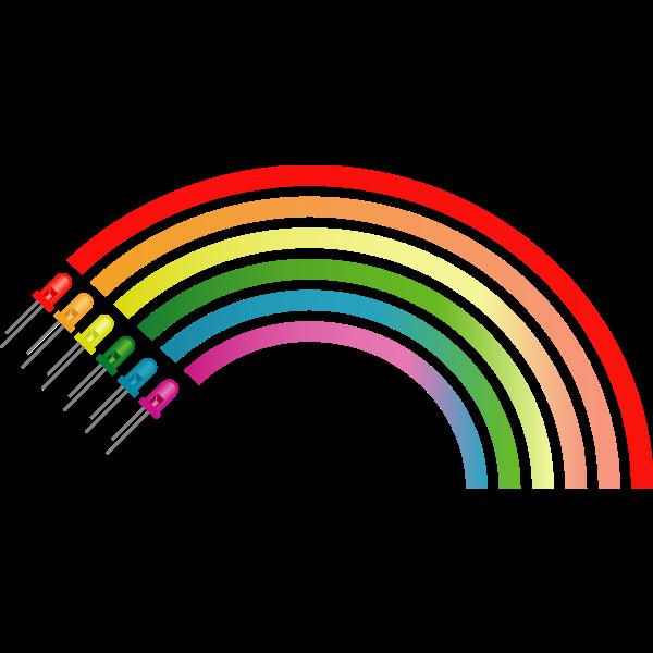 Light Emiting Diodes Rainbow