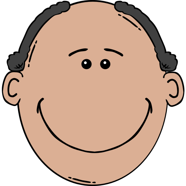 Vector illustration of big mouth man's face