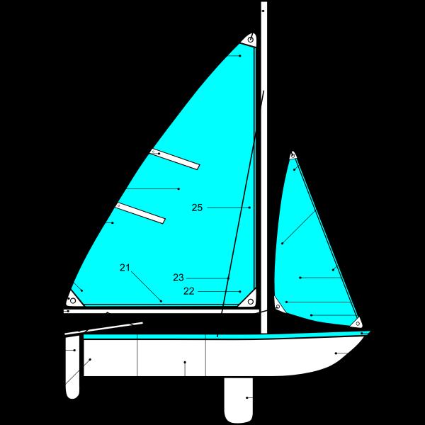 Sailing boat parts