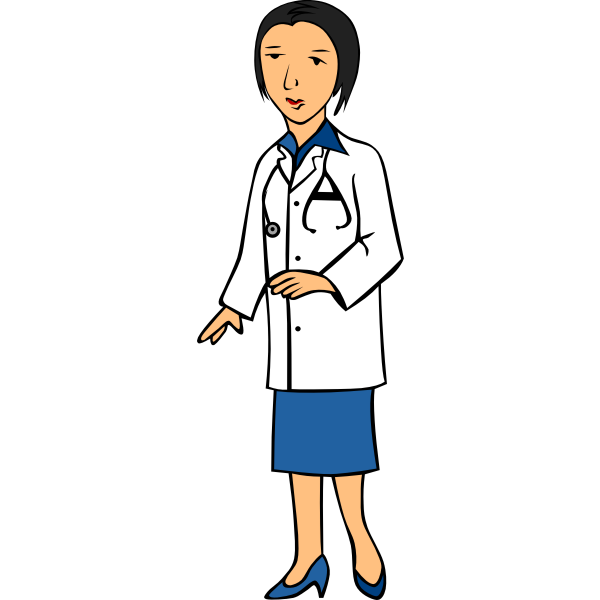 Lady doctor vector image