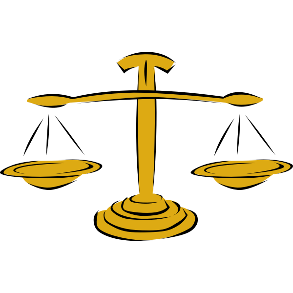 Balance scale vector image