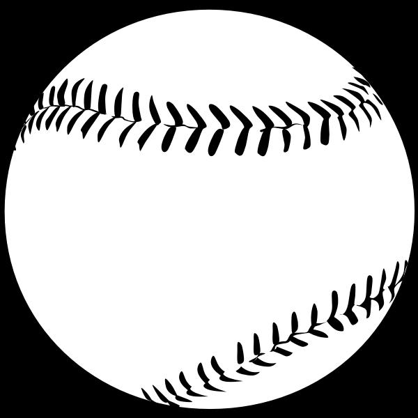 Vector image of baseball ball