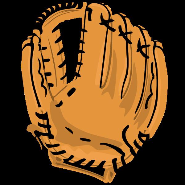 Vector image of baseball glove