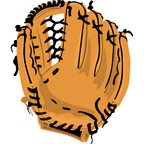 Vector image of baseball glove