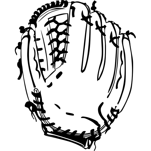 Vector graphics baseball glove