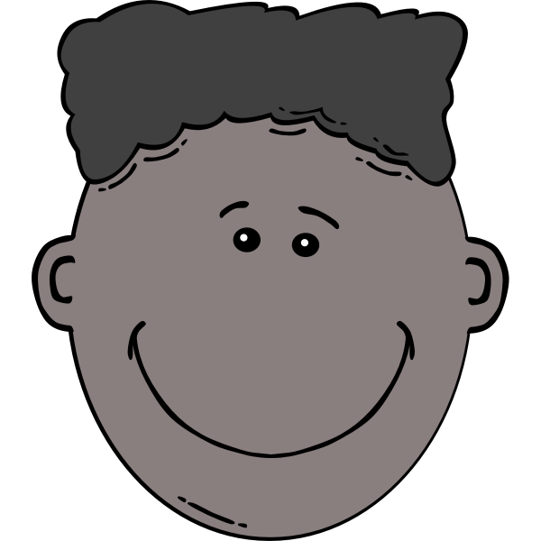 Boy Face Cartoon Art