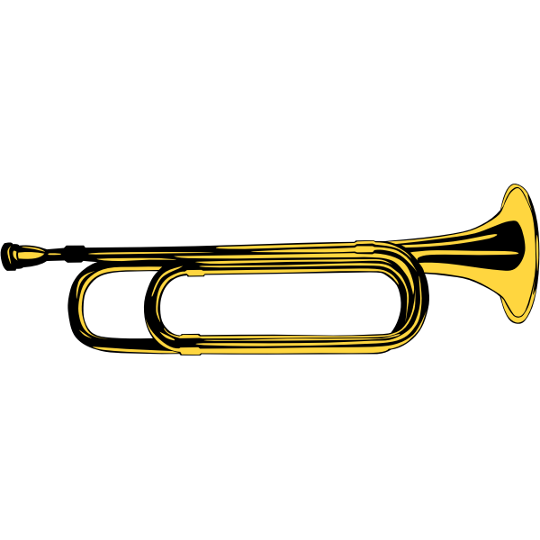 Vector image of yellow brass instrument