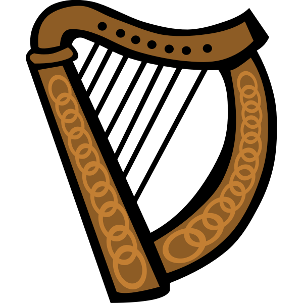 Vector image of Celtic harp